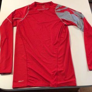Nike Football Team 🏈 Long Sleeve Compression Tee